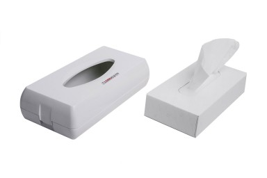 Facial tissue dispenser - abs white