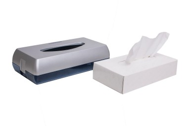 Facial tissue dispenser - abs matt chrome