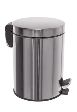 Waste disposal pedal bin - stainless steel - 5 lit.