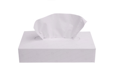 Facial tissue in box