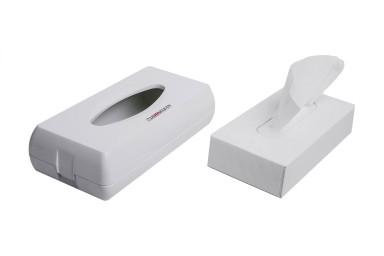 Facial tissue dispenser - abs white
