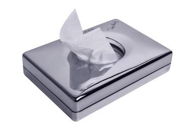 Interfolded sanitary bags dispenser - ABS chrome