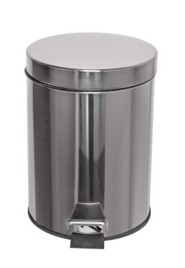 Waste disposal pedal bin – stainless steel – 12 lit.